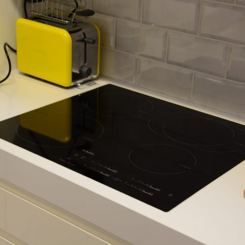 6 Flush induction hob thick worktop